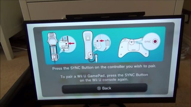 how to sync a wii u remote