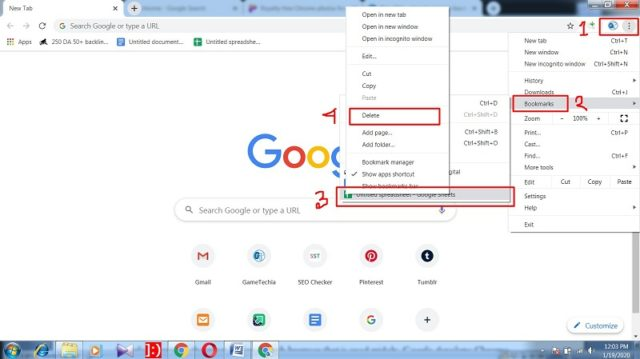 How to remove bookmarks from Chrome