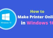 Make Printer Online in Windows 10