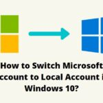 Switch Microsoft Account to Local Account in Windows 10